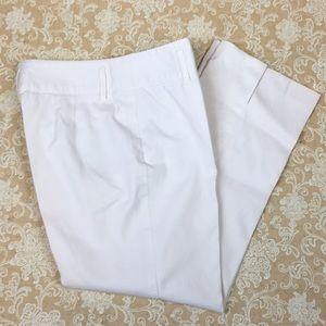 LOFT White Capri Pants